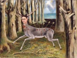 «¿Qué haría yo sin lo absurdo y lo fugaz?» by Frida Kahlo