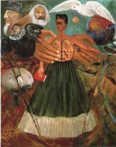 «Por primera vez, ya no estoy llorando» by Frida Kahlo.