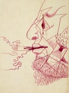 Dibujo de Frida Kahlo