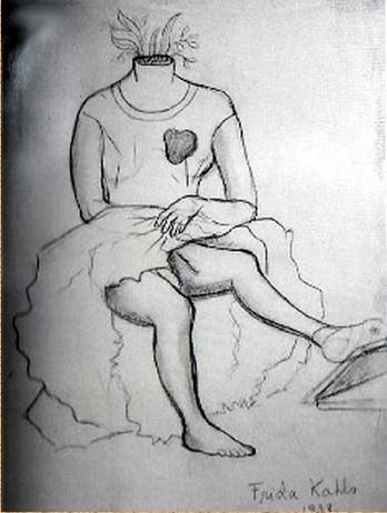 """Herida abierte"" by Frida Kahlo"