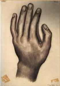 "1930 ""La mano"" by Frida Kahlo"