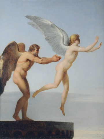 """""""Icarus and Daedalus"""" by Charles Paul Landon"""