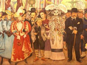 """Fragmento del mural: """"Sueño de una tarde dominical en la Alameda Central"""""""