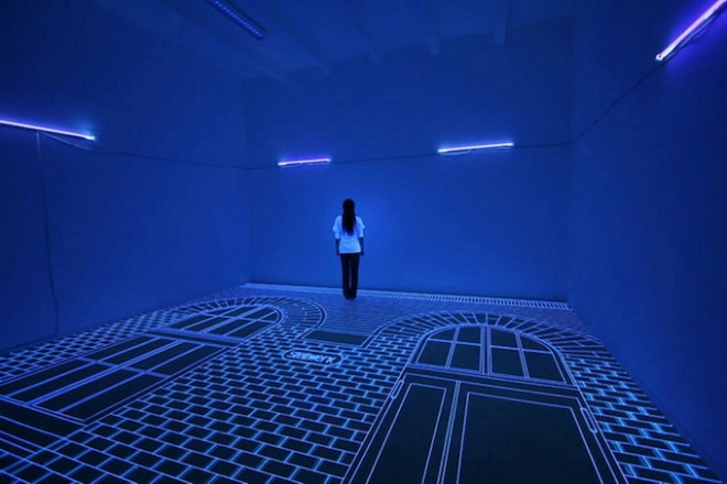 Sala parte de la exposición 3D UV de la artista Coreana Jeongmoon Choi, en el 2013 en la ciudad de Berlín.