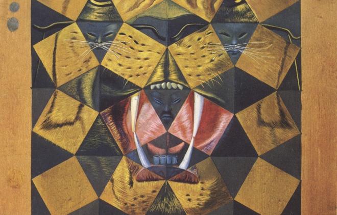 Cincuenta imágenes abstractas que, contempladas a una distancia de dos yardas, se transforman en tres Lenin disfrazados de chino y, contempladas a una distancia de seis yardas, parecen la cabeza de un tigre real.