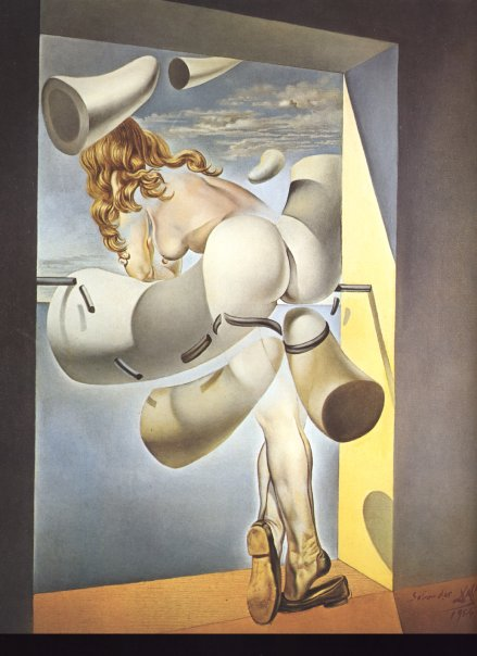 """1954, """"Young Virgin Auto-Sodomized by the Horns of Her Own Chastity"""" by © Salvador Dalí"""