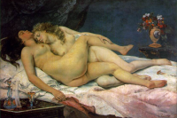 """""""El sueño"""" Gustave Courbet"""