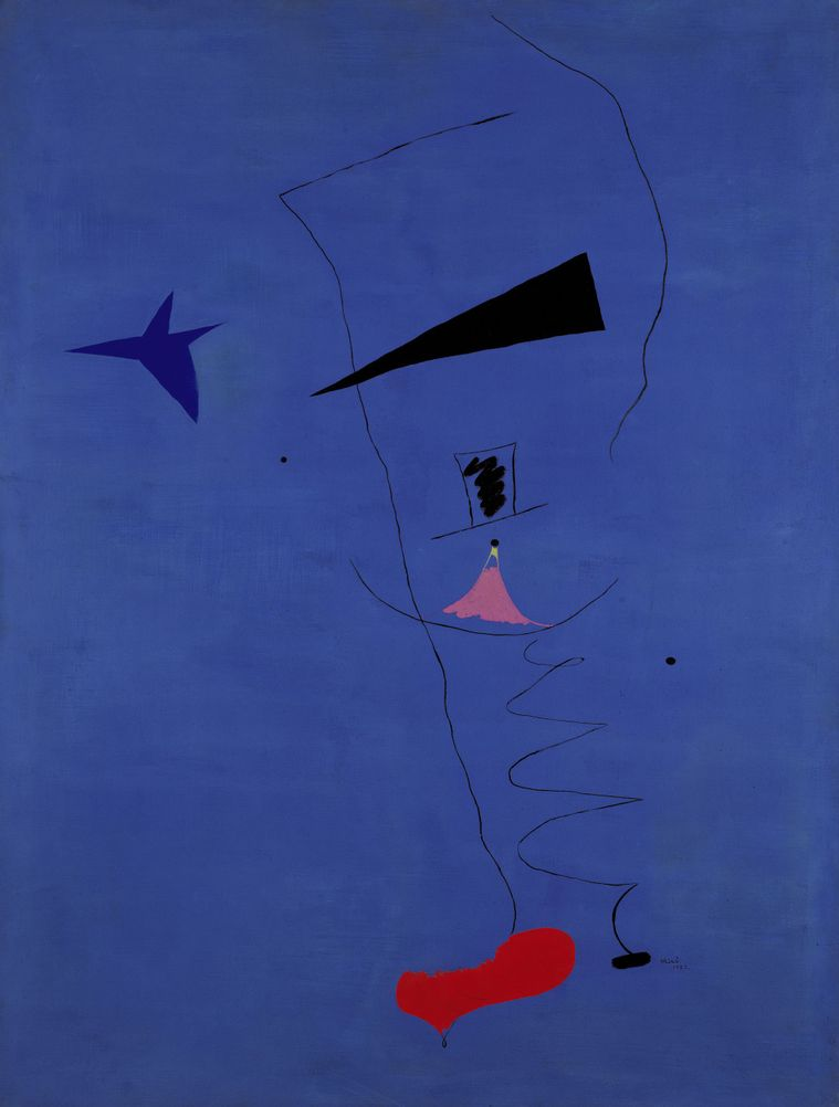 """1927, """"Painting (Blue Star)"""" by © Joan Miró"""